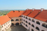 Вигляд на подвір'я середнього замку в Мукачево